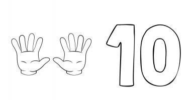 cartel 10 con dedos