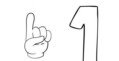 asociar numero dedos