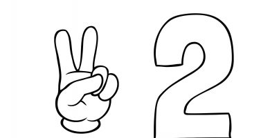 ficha numero 2 dedos
